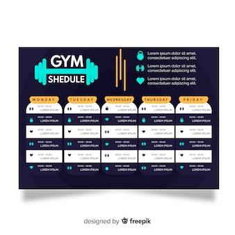 Plantilla de horario de fitness