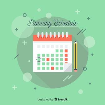 Plantilla de horario de planificación