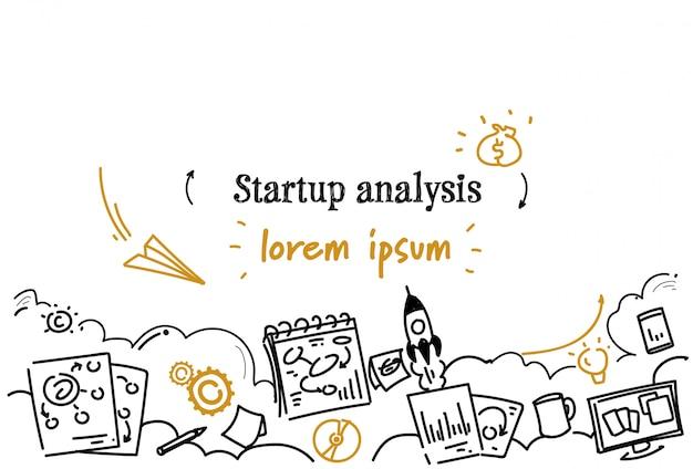 Plantilla horizontal de análisis de inicio de negocio financiero