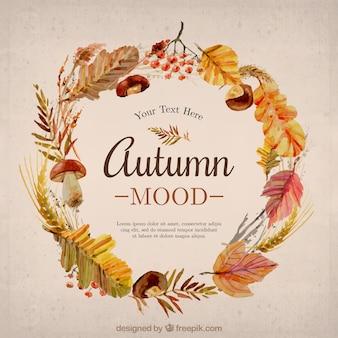 Plantilla de humor de otoño