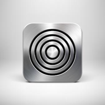 Plantilla de icono de la aplicación metal technology