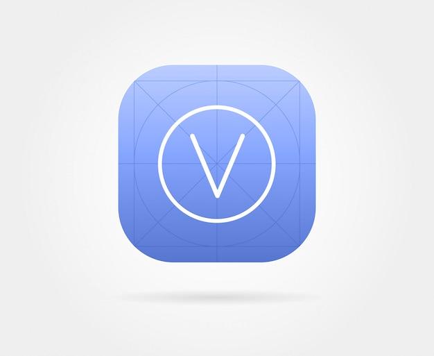 Plantilla de icono de aplicación con pautas.