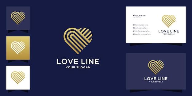 Plantilla de icono de corazón concepto de logotipo de atención médica icono de logotipo de citas y tarjeta de visita