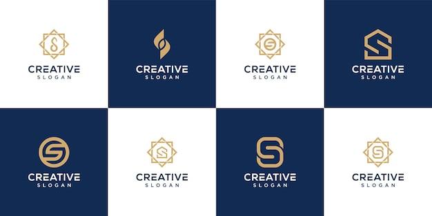 Plantilla de icono de diseño de logotipo de letra creativa s