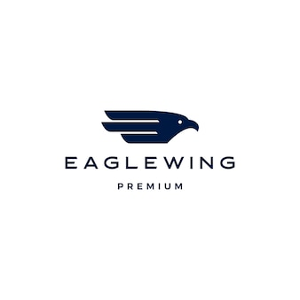 Plantilla de icono de logotipo de pájaro de ala de águila