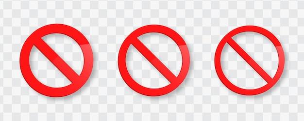 Plantilla de icono prohibido o icono de señal de stop