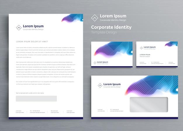 Plantilla de identidad corporativa de negocios de papelería clásica