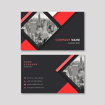 Plantilla de identidad de tarjeta de visita de la empresa