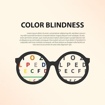 Plantilla de ilustración de daltonismo