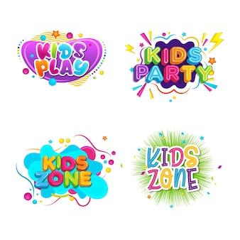 Plantilla de ilustración de diseño de evento de título para niños
