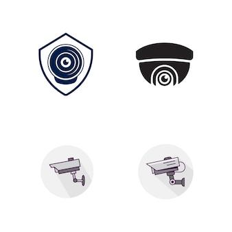 Plantilla de ilustración de diseño de icono de vector de cctv
