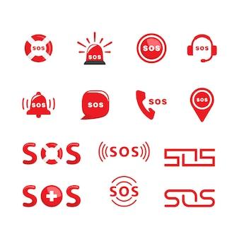 Plantilla de ilustración de diseño de icono de vector de sos