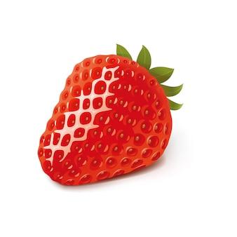 Plantilla de ilustración de diseño de vector de fresa