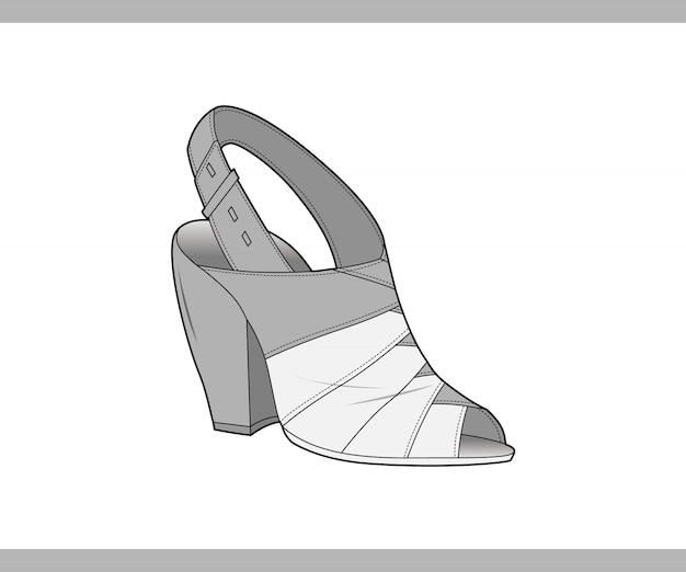 Plantilla de ilustración de diseño de vector de zapatos