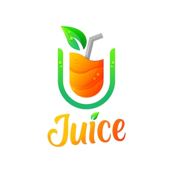 Plantilla de ilustración de logotipo moderno de jugo
