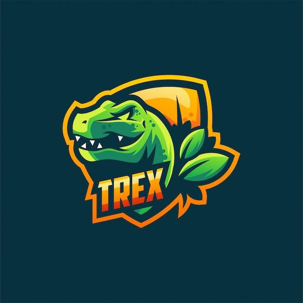 Plantilla de ilustración de vector de diseño de logotipo de trex