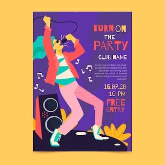 Plantilla ilustrada para póster musical