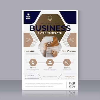 Plantilla de impresión de cartel de negocios moderno