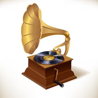 Plantilla de impresión de gramófono