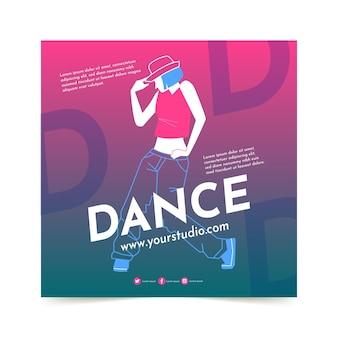 Plantilla de impresión de lecciones de baile