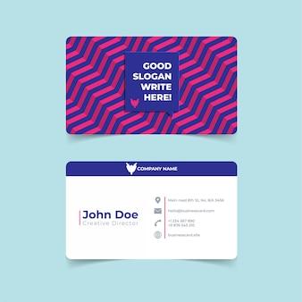 Plantilla de impresión de moda tarjeta de visita geométrica.