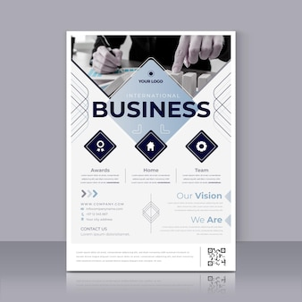 Plantilla de impresión de póster de negocios internacionales