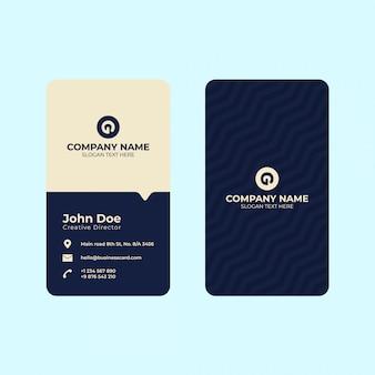 Plantilla de impresión de tarjeta de visita vertical.