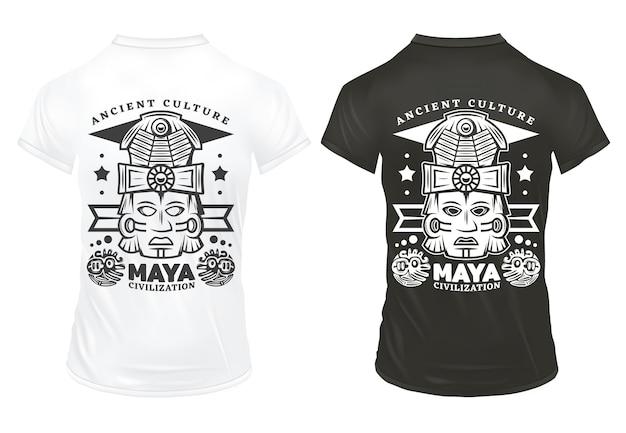 Plantilla de impresiones de la civilización maya vintage