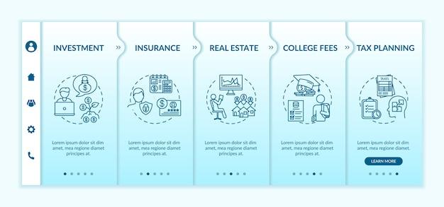 Plantilla de incorporación de la aplicación de educación financiera