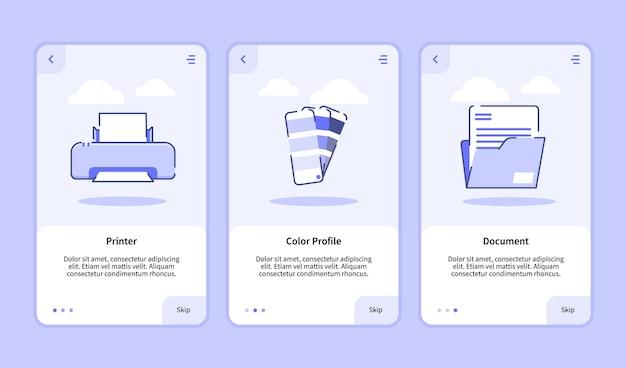 Plantilla de incorporación para banner de aplicaciones móviles