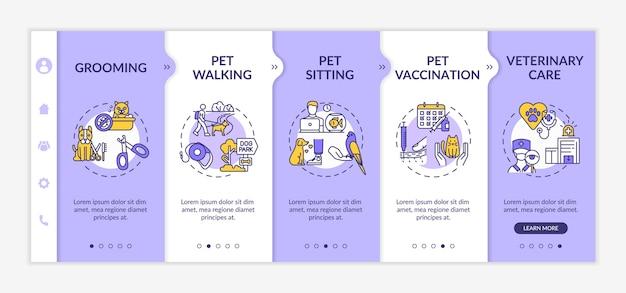 Plantilla de incorporación de servicios para mascotas