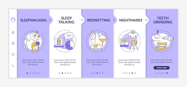 Plantilla de incorporación de tipos de trastornos del sueño. tratamiento del insomnio