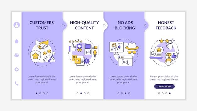 Plantilla de incorporación de ventajas de marketing de influencers