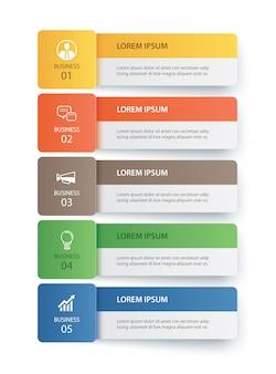 Plantilla de índice de papel de ficha de infografía de datos.