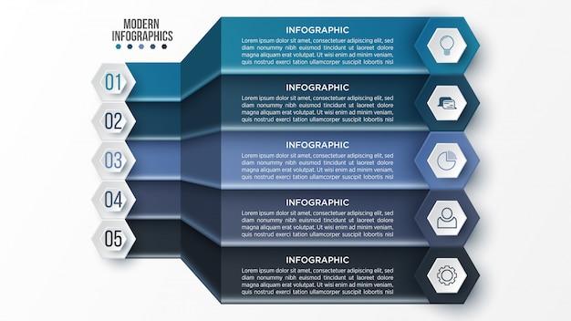 Plantilla de infografía 3d para presentación. visualización de datos comerciales.