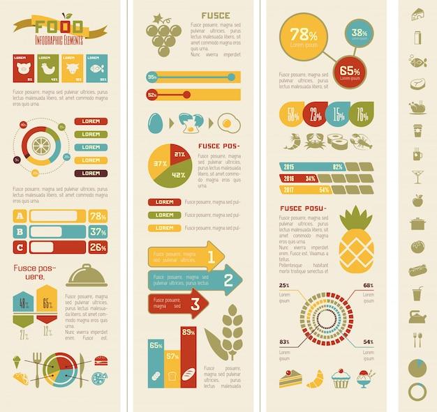 Plantilla de infografía de alimentos.