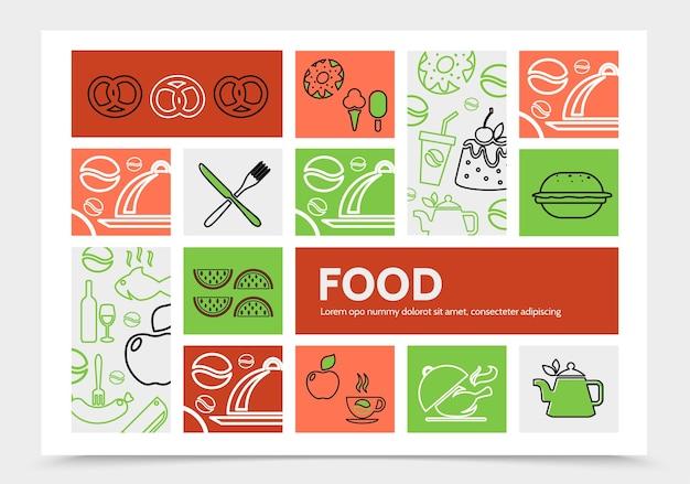 Plantilla de infografía de alimentos