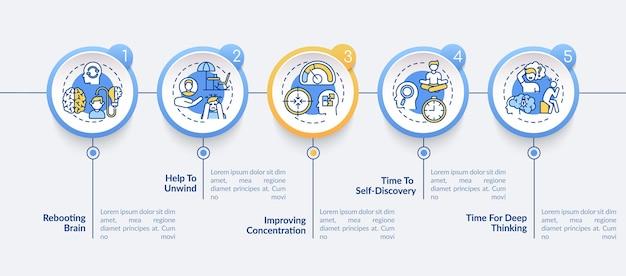 Plantilla de infografía de beneficios de tiempo