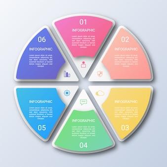 Plantilla de infografía círculo colorido