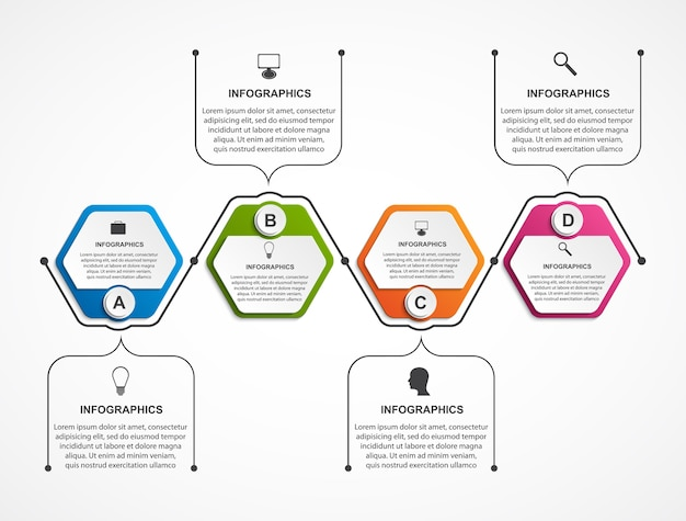 Plantilla de infografía colorida