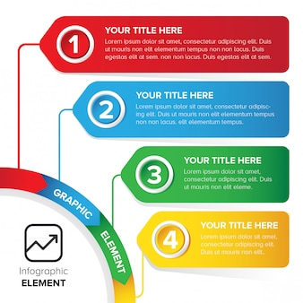 Plantilla de infografía colorido elemento de diseño