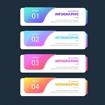 Plantilla de infografía colorido