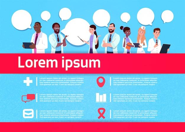 Plantilla de infografía comunicación médico