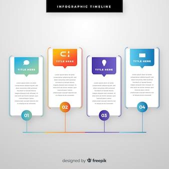 Plantilla de infografía con concepto de línea de tiempo