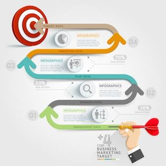 Plantilla de infografía de concepto de negocio.