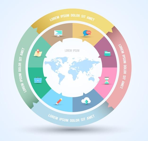 Plantilla de infografía concepto de negocio