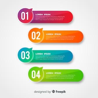 Plantilla de infografía corporativa empresarial, composición de elementos infográficos