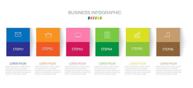 Plantilla de infografía con cuatro pasos u opciones.
