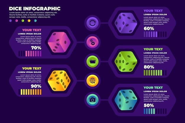 Plantilla de infografía dados
