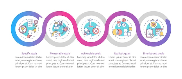 Plantilla de infografía de definición de objetivos inteligentes